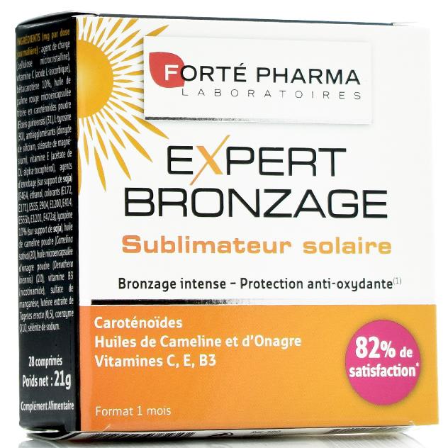 Forte Pharma Expert Bronzage Διεγείρει το Φυσικό Μαύρισμα & Ενισχύει τις Άμυνες του Δέρματος, Ενεργοποιώντας τη Μελανίνη 28tabs