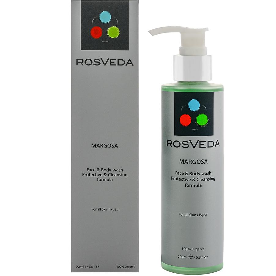 Rosveda Margosa Face & Body Wash 100% Φυτική Σύνθεση, Καθαριστικό Προσώπου & Σώματος με Απολυμαντικές Ιδιότητες 200ml