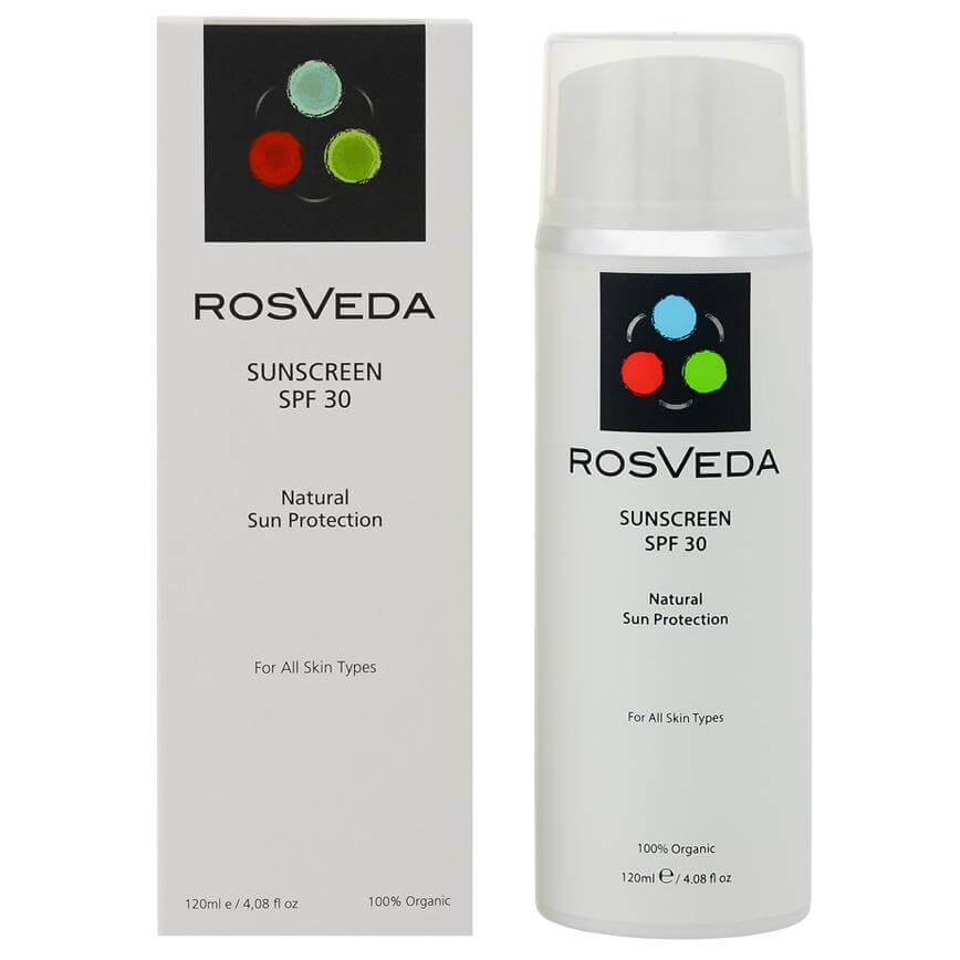 RosVeda Sunscreen Spf30 100% Φυτική Σύνθεση Αντηλιακής Κρέμας Προσώπου Σώματος Υψηλής Προστασίας 120ml