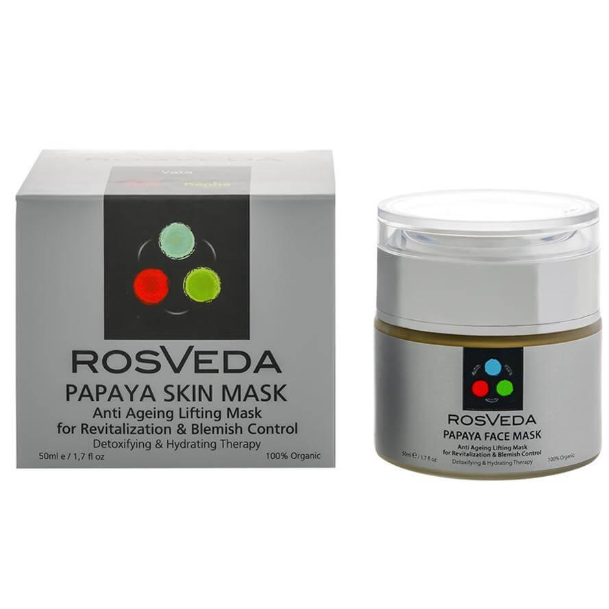 RosVeda Papaya Mask 100% Φυτική Σύνθεση Θεραπείας Δυσχρωμιών, Αντιγηραντική Μάσκα Προσώπου Αποτοξίνωσης-Ενυδάτωσης 50ml
