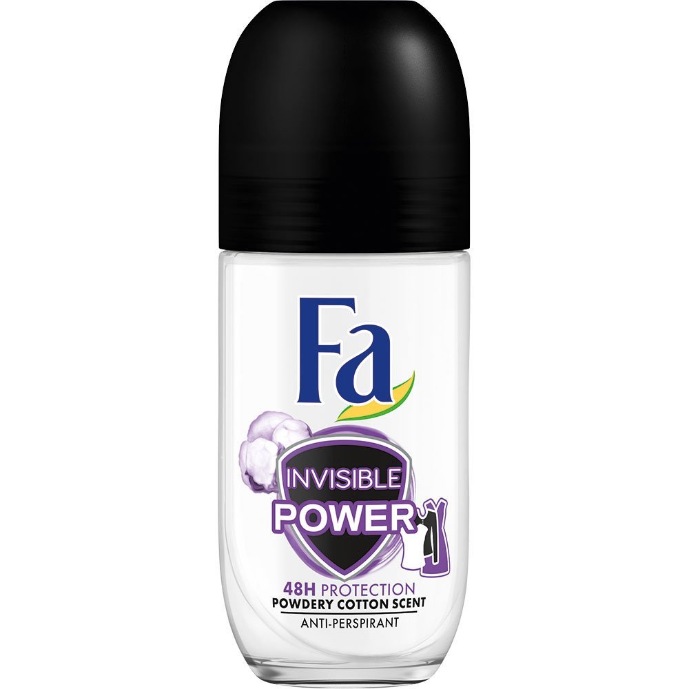 Fa Deodorant Roll-On Invisible Power Αποσμητική Αόρατη Προστασία Μακράς Διάρκειας & Προστασία από τους Λεκέδες 50ml