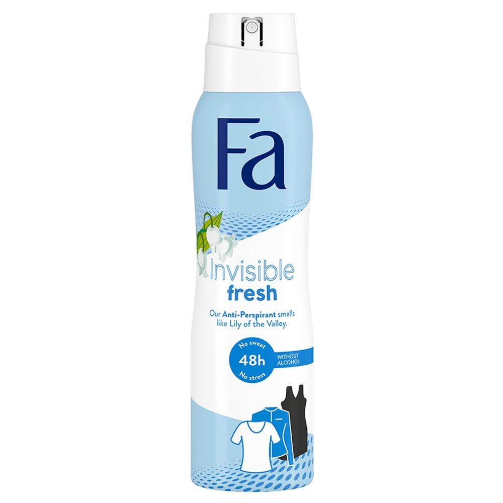 Fa Invisible Fresh Lily 48h Anti Perpirant Deodorant Spray Αποσμητικό 48ωρης Προστασίας 150ml