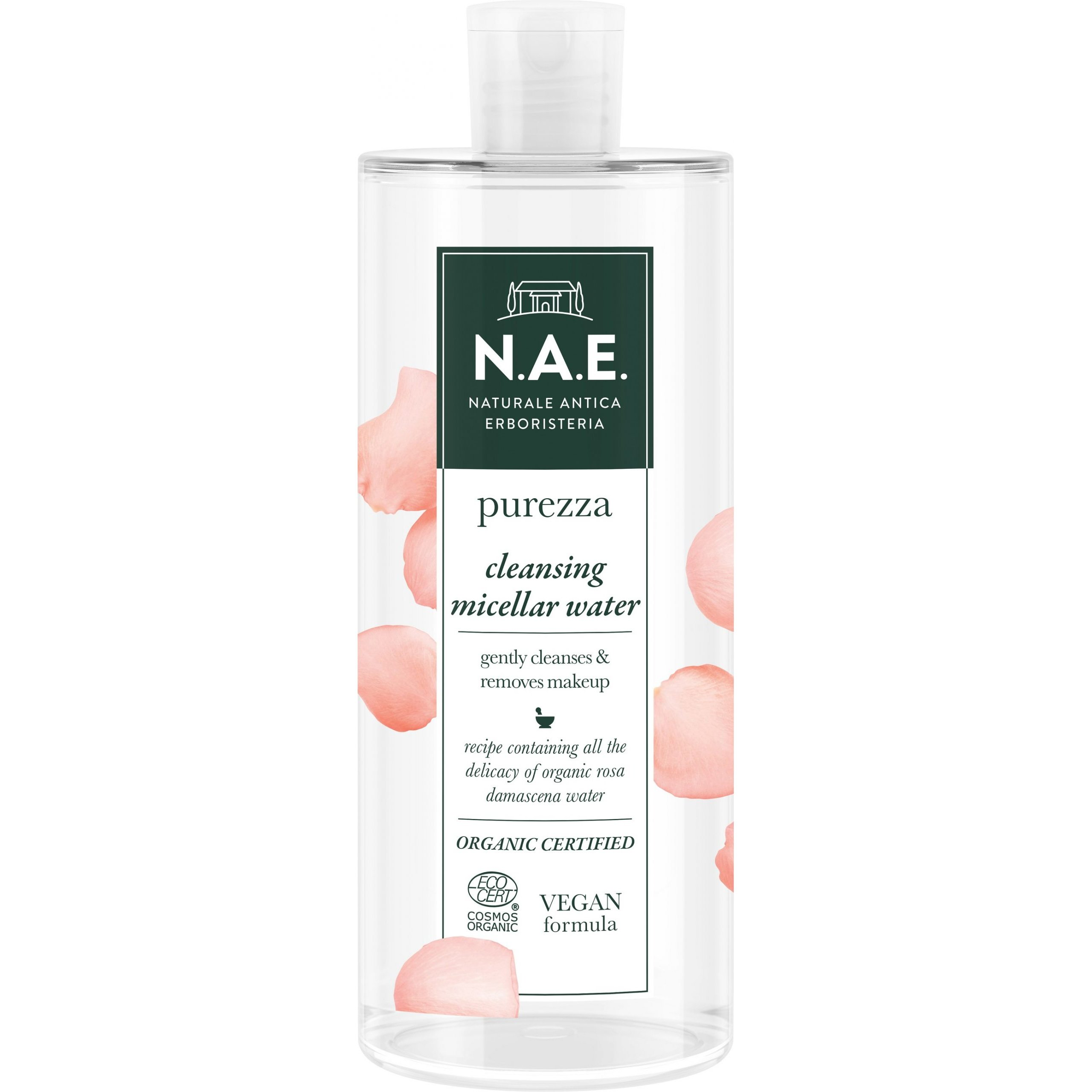 N.A.E. Purezza Gentle Micellar Water Απαλό Νερό Καθαρισμού & Ντεμακιγιάζ Προσώπου 500ml