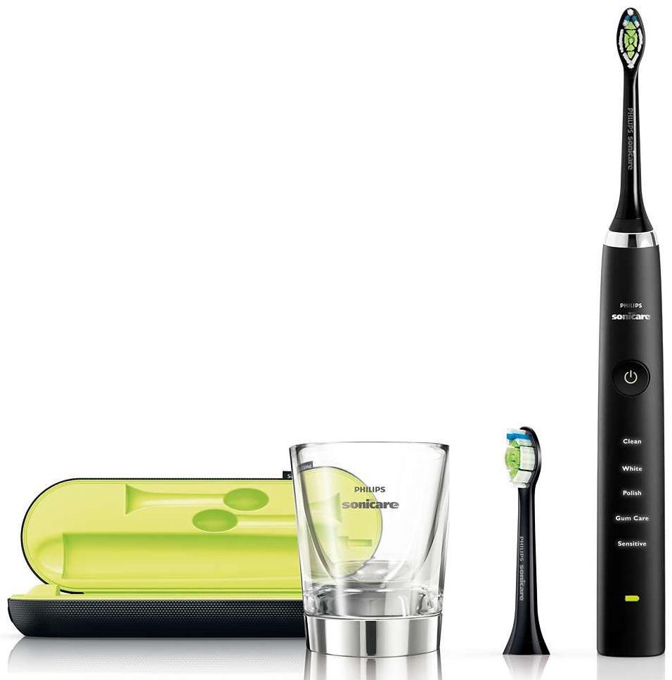 Philips Sonicare DiamondClean Black Edition Επαναφορτιζόμενη Ηλεκτρική Οδοντόβουρτσαγια Λαμπερά Δόντια & Υγιή Ούλα
