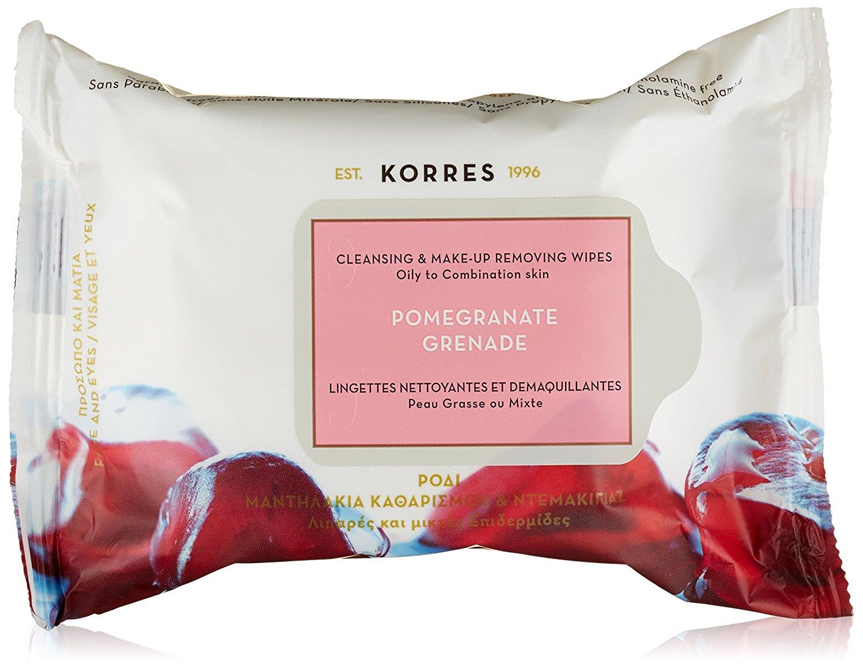 Korres Ρόδι Μαντηλάκια Καθαρισμού & Ντεμακιγιάζ για Λιπαρές - Μικτές Επιδερμίδες ομορφιά   καθαρισμός προσώπου   μαντηλάκια καθαρισμού   ντεμακιγιάζ