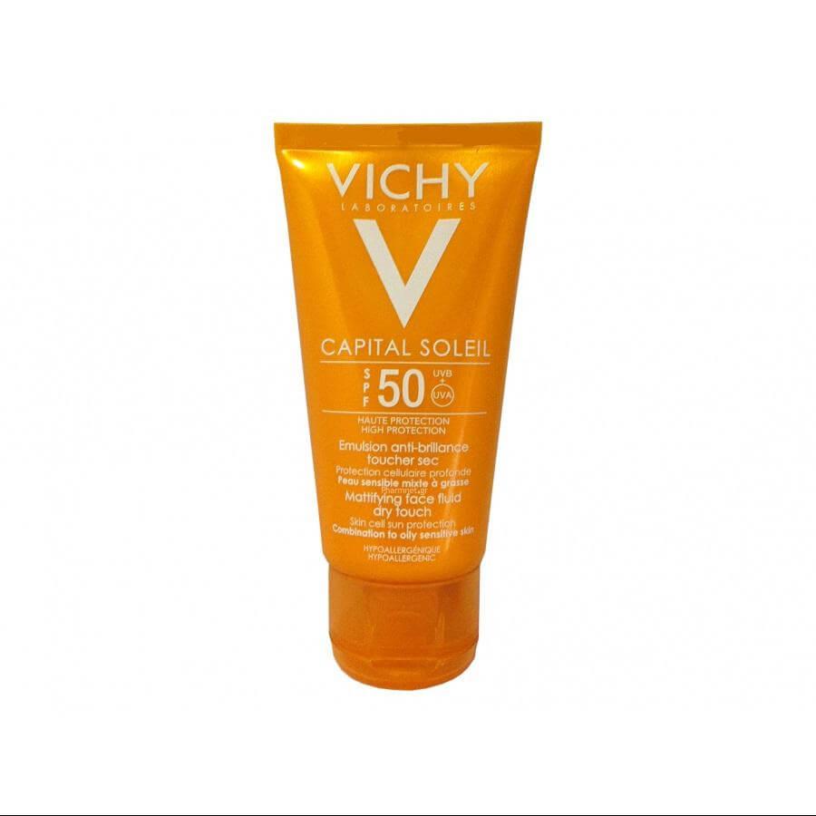 Vichy Capital Soleil Αντιηλιακή Κρέμα Προσώπου SPF50 με Λεπτόρρευστη υφή και Ματ Αποτέλεσμα, 50ml