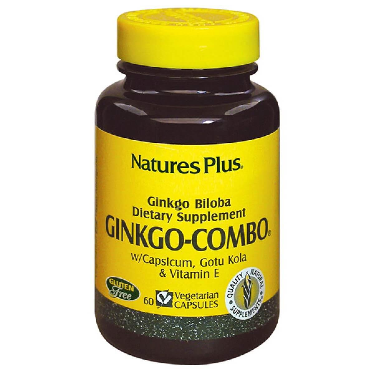 Natures Plus Ginkgo Combo Φόρμουλα για τη Βελτίωση της Πνευματικής και Νοητικής Λειτουργίας 60vcaps