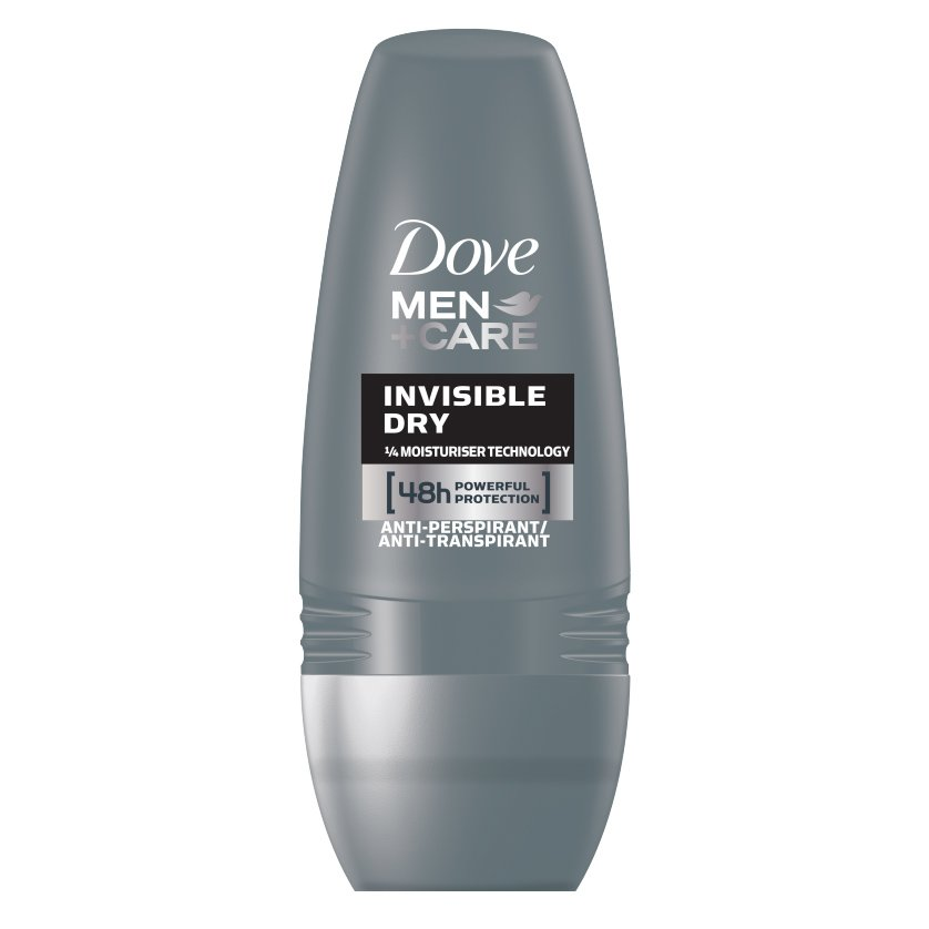 Dove Deo Roll On Men Care Invisible Dry Ανδρικό Αποσμητικό για Δυνατή Προστασία Κατά του Ιδρώτα & των Λευκών Σημαδιών 50ml