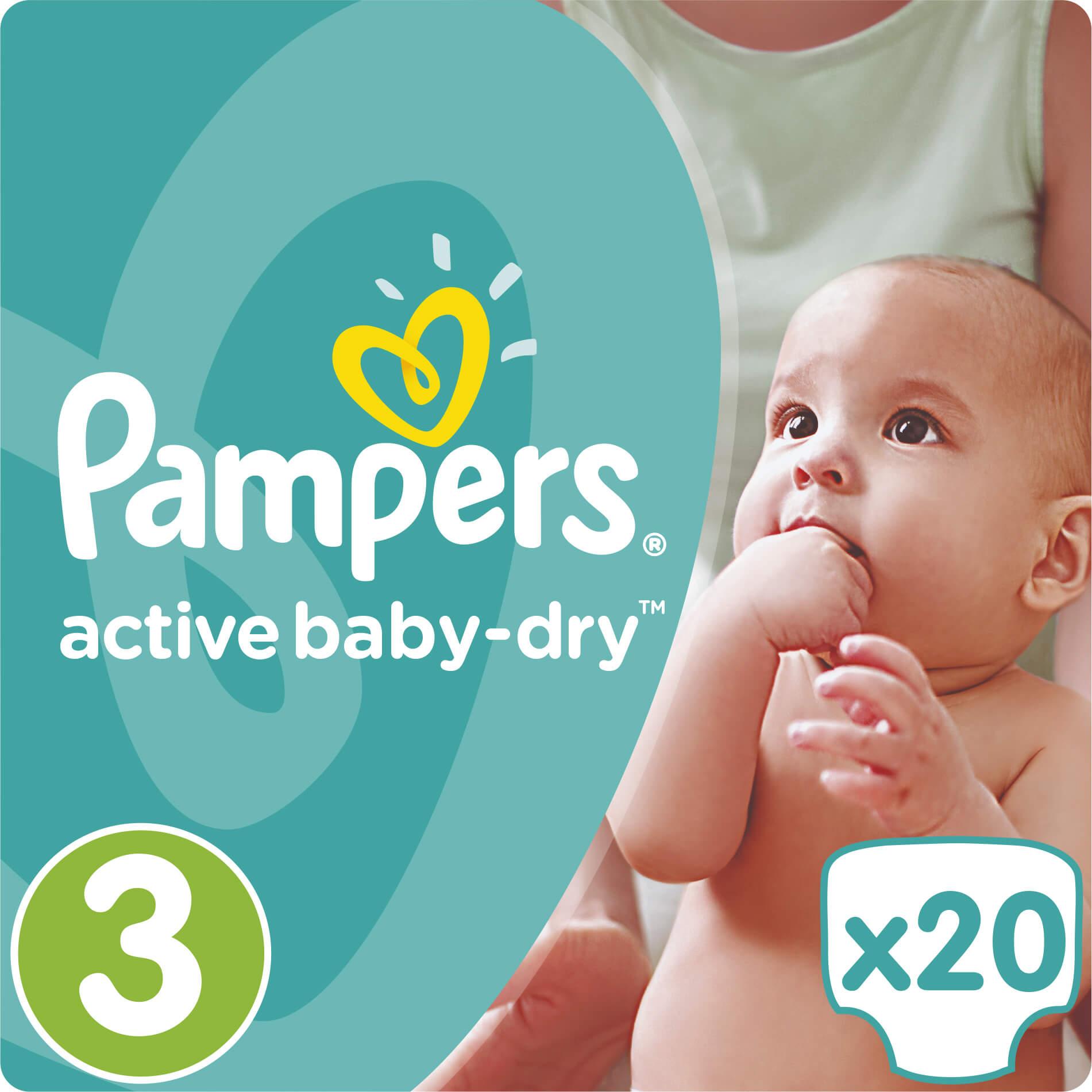 Pampers Active Baby Dry No3 (5-9kg) 20 πάνες μητέρα παιδί   περιποίηση για το μωρό   πάνες για το μωρό