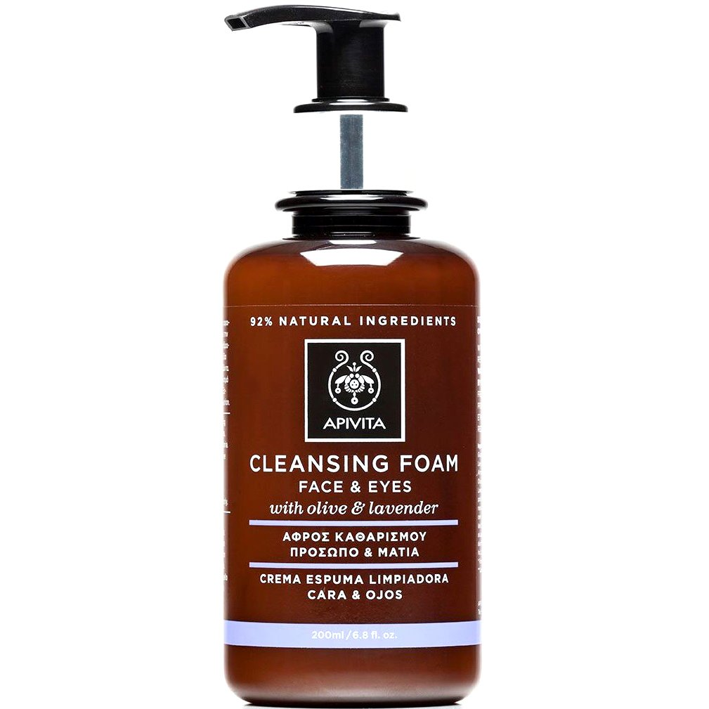 Apivita Cleansing Κρεμώδης Αφρός Καθαρισμού για Πρόσωπο & Μάτια με Ελιά & Λεβάντα 200ml