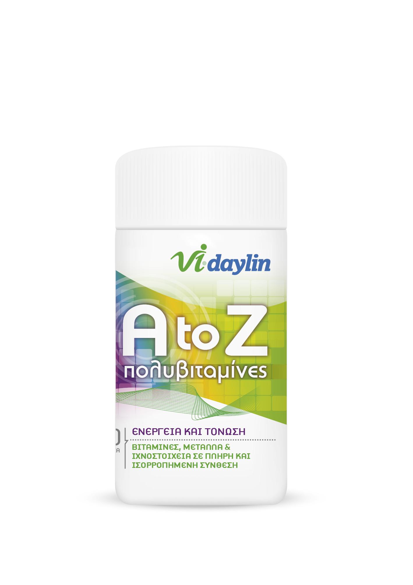 Abbott Vi-daylin A To Z Multivitamin Εξειδικευμένη Πολυβιταμίνη 30tabs