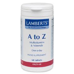 Lamberts A-Z Multi Vitamins Φόρμουλα Πολυβιταμίνης – 60 tabs