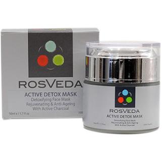 RosVeda Active Detox Mask Φυσική Μάσκα Προσώπου για Αποτοξίνωση & Σύσφιξη 50ml