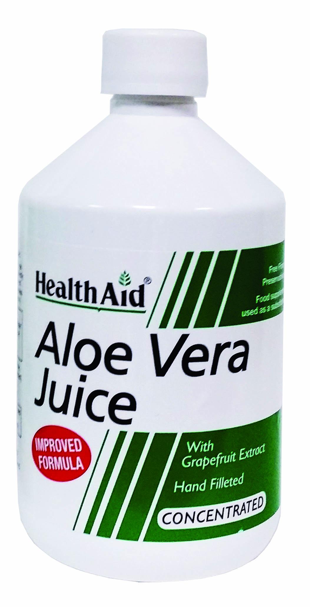 Health Aid Aloe Vera Juice Από Φρέσκα Φυτά Αλόης 500ml