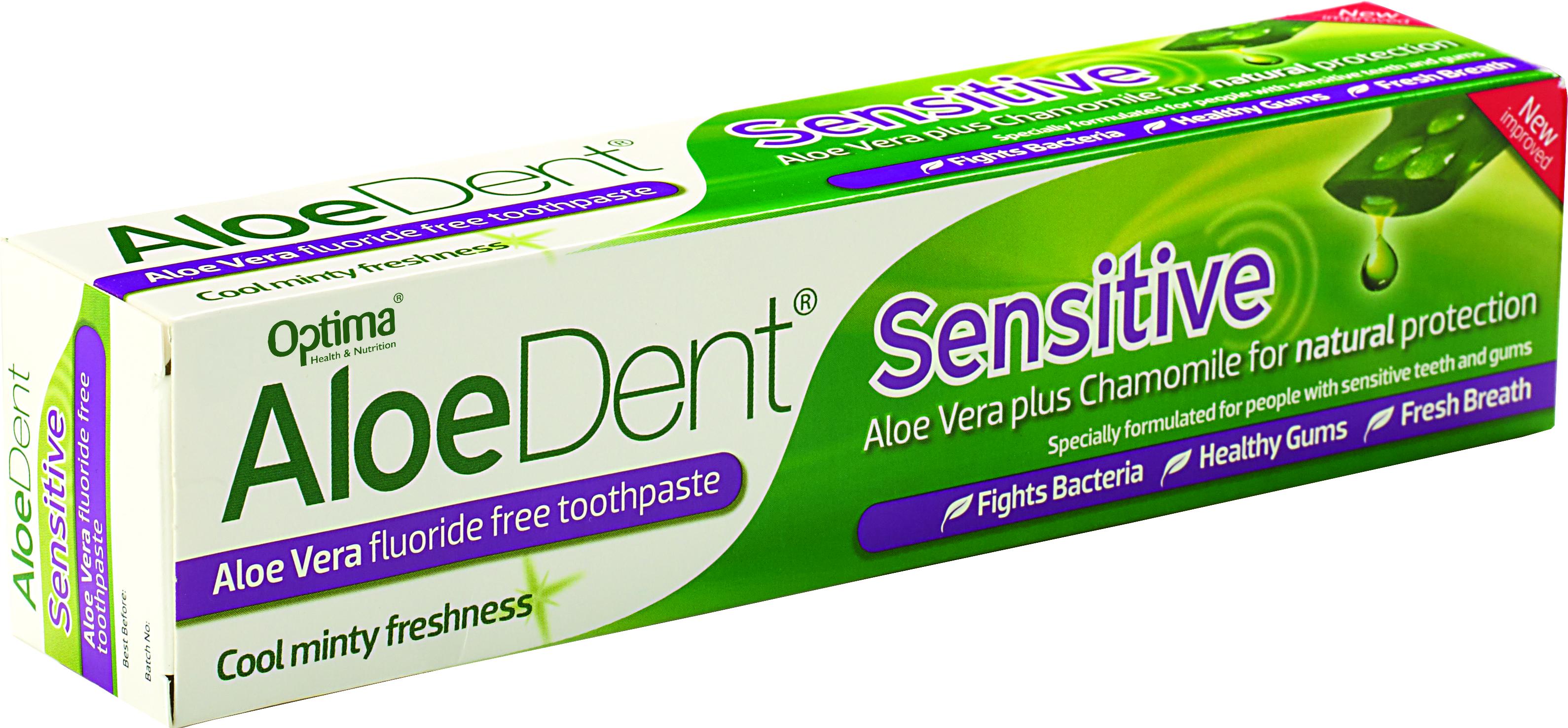 Optima Aloe Dent Sensitive Toothpaste, 100ml υγιεινή   στοματική υγιεινή   οδοντόκρεμες για ολοκληρωμένη προστασία