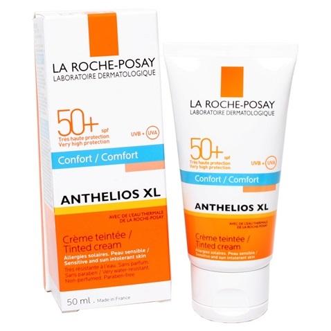 La Roche Posay Anthelios XL Comfort Tinted Cream Spf50+ Αντιηλιακή Κρέμα Προσώπου Με Βελούδινη Υφή 50ml