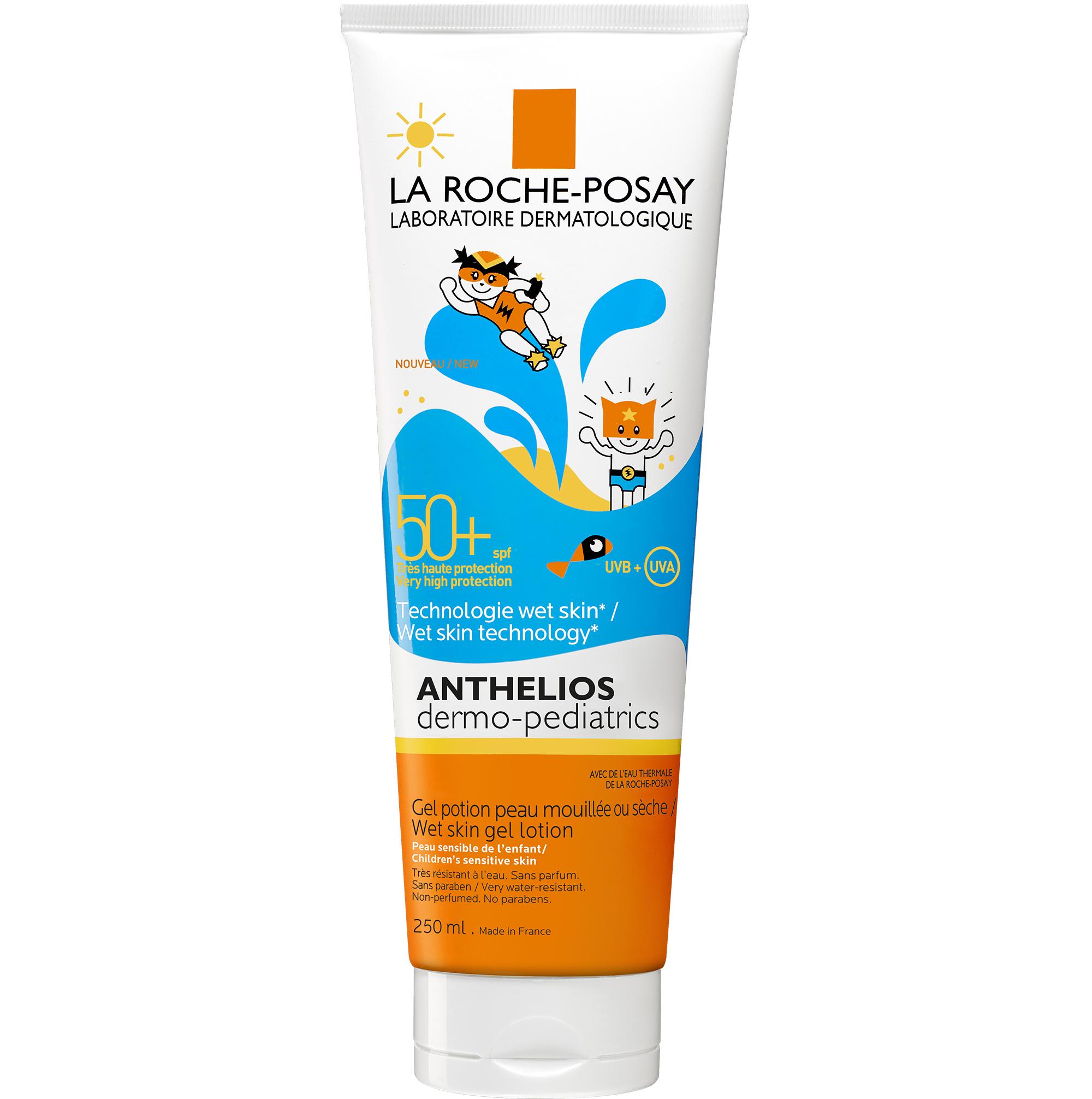 La Roche-Posay Anthelios Dermo-Pediatrics Wet Skin Gel Lotion Spf50+ ΠαιδικόΑντηλιακό Gel για Βρέγμένο ή Στεγνό Δέρμα250ml
