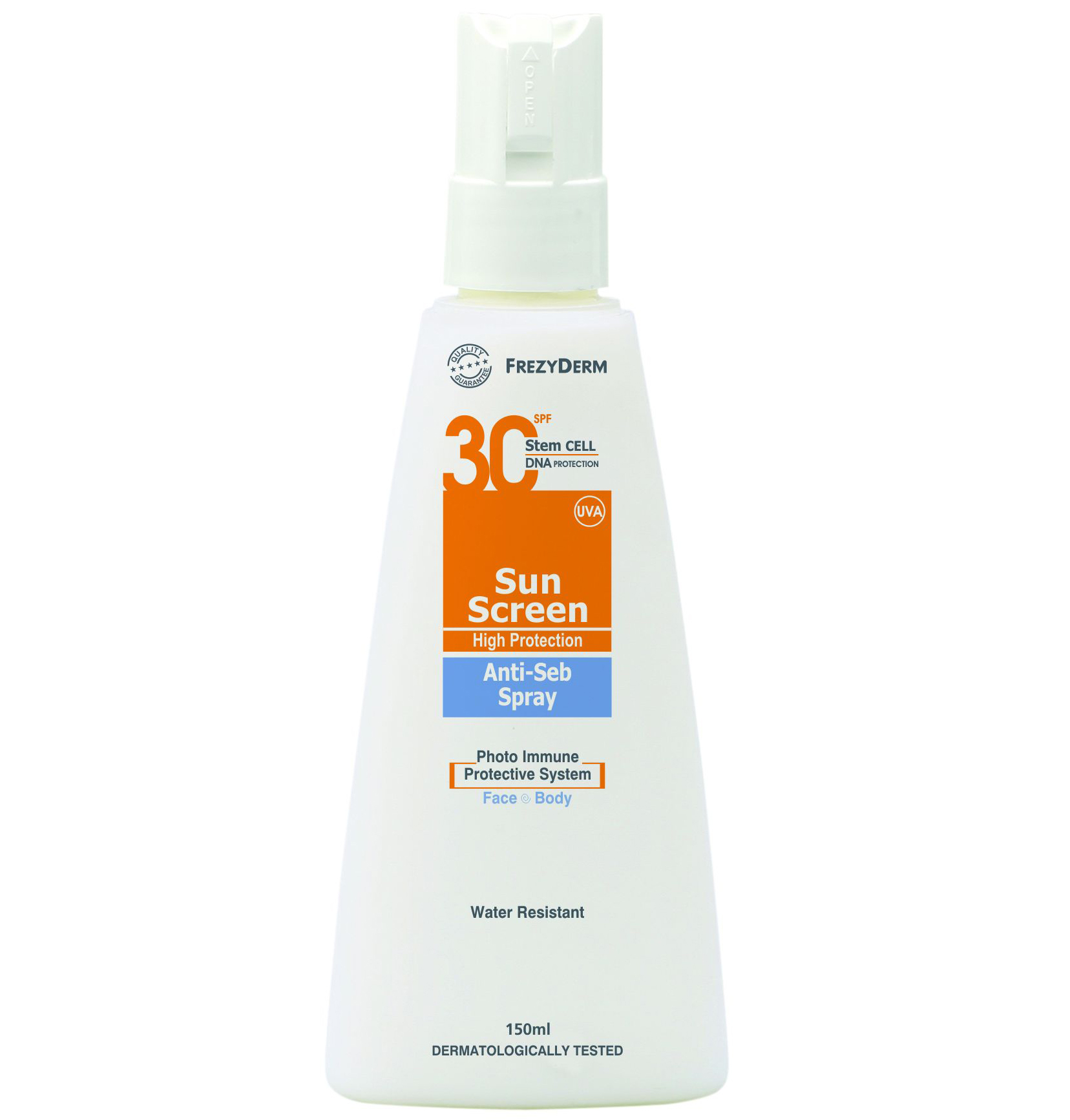 Frezyderm Sun Screen Anti-Seb Spray SPF 30/UVA Αντιηλιακό Γαλάκτωμα spray Κατά Της Ακμής 150ml