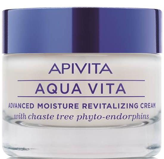 Apivita Aqua Vita Κρέμα Εντατικής Ενυδάτωσης & Αναζωογόνησης για Ξηρές Πολύ Ξηρές Επιδερμίδες 50ml