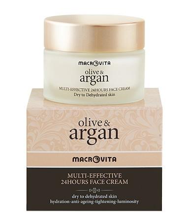 Macrovita Multi Effective Κρέμα Προσώπου 24Ωρου Για Ξηρό Δέρμα Με Λάδι Ελιάς Και Άργκαν 50ml