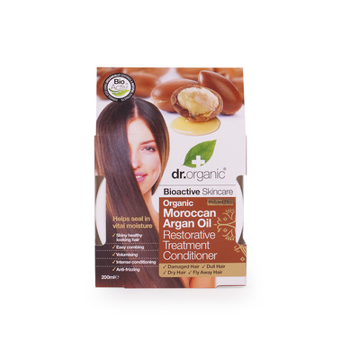 Dr Organic Organic Moroccan Argan Oil Restorative Treatment Conditioner Βιο-ενεργή Μάσκα Περιποίησης με Βιολογικό Έλαιο Α 200ml