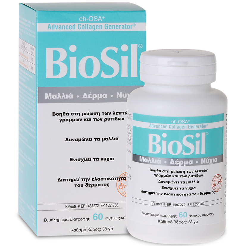 Biosil Hair Skin Nails Συμπλήρωμα Διατροφής για Μαλλιά, Δέρμα, Νύχια 60veg.caps