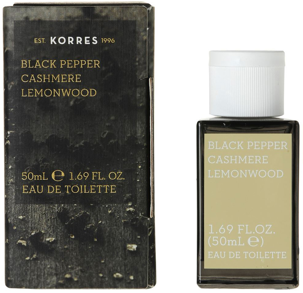 Korres Eau de Toilette Black Pepper, Cashmere & Lemonwood Ανδρικό Άρωμα 50 ml