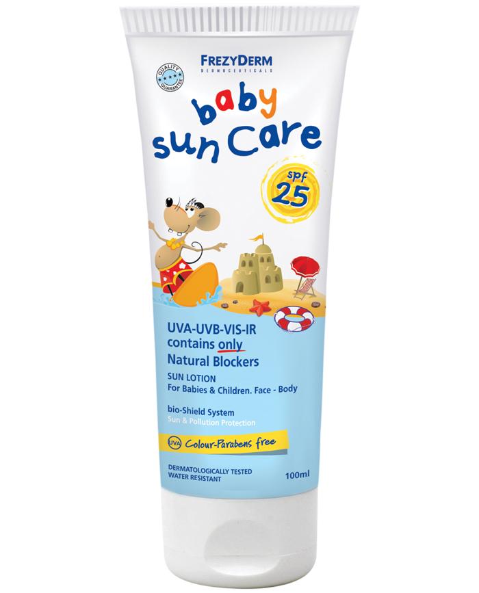 Frezyderm Baby Sun Care SPF25 Αντιηλιακό Γαλάκτωμα Προσώπου Και Σώματος 75ml