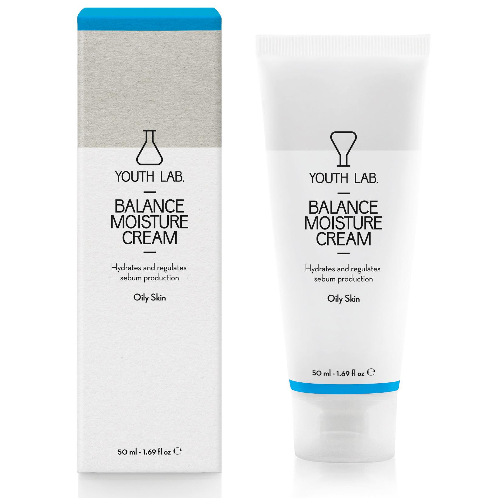 YOUTH LAB. Balance Moisture Cream Oily Skin Ρυθμιστική, Ενυδατική Κρέμα για Λιπαρή Επιδερμίδα με Τάση Ακμής 50ml