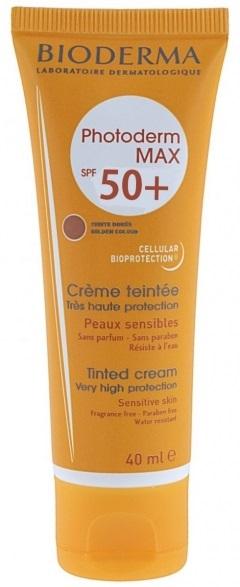 Bioderma Photoderm Max Creme Teinte Doree Spf50+ Αντηλιακή Κρέμα Προσώπου Πολύ Υψηλής Προστασίας με Χρώμα 40ml