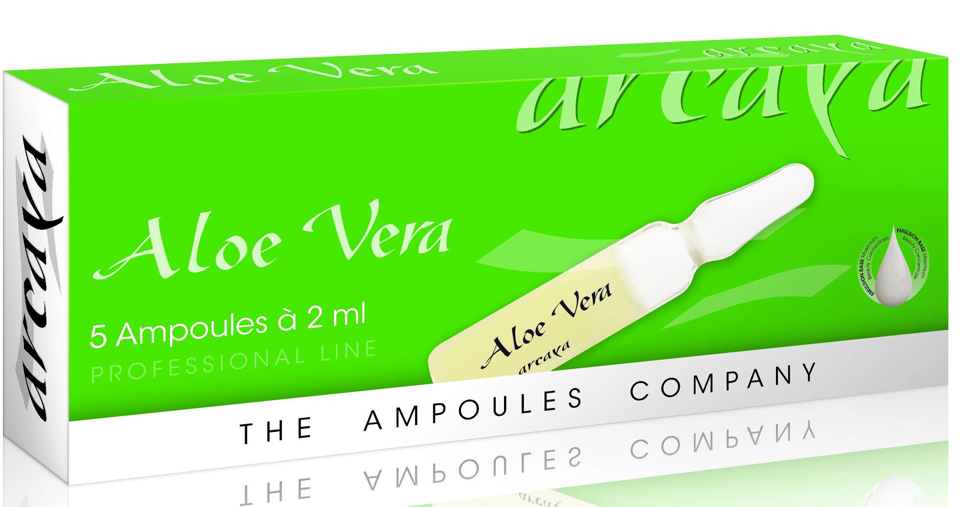 Arcaya Aloe Vera Πλούσια Ενυδάτωση, Αναζωογόνηση & Ανακούφιση από την Αφυδάτωση & την Αίσθηση Τραβήγματος Ampoules 5x2ml