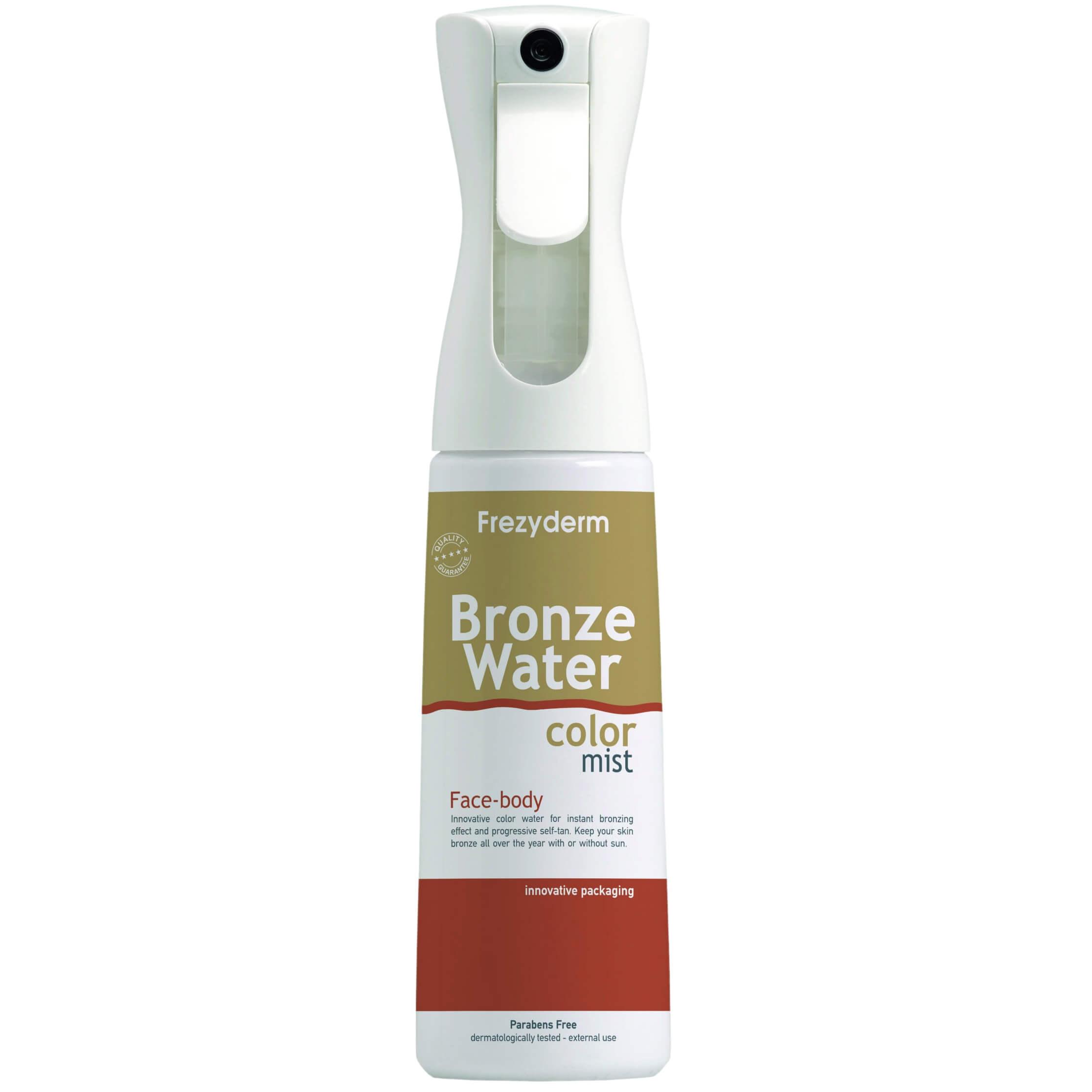 Frezyderm Water Color Mist Spray Bronze Spray Πρόσωπου& Σώματος για Φυσικό Μαύρισμα300ml