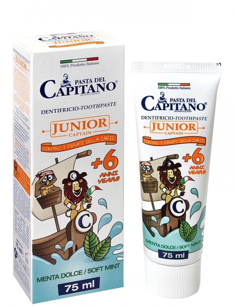 Pasta Del Capitano Junior Οδοντόκρεμα Παιδική απο 6 Ετών με Γεύση Ελαφριά Μέντα 75ml