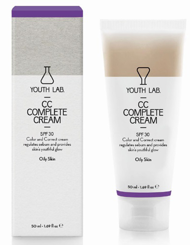 YOUTH LAB. CC Complete Cream Spf30 Oily Skin Έγχρωμη Κρέμα για Λιπαρές Επιδερμίδες 50ml