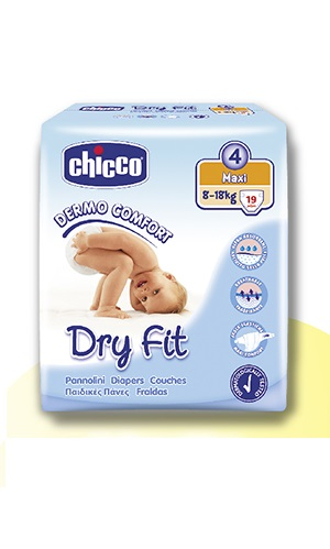 Chicco Πάνες Dry Fit Ν4 Maxi (8-18kg) 19 τεμ. 5242