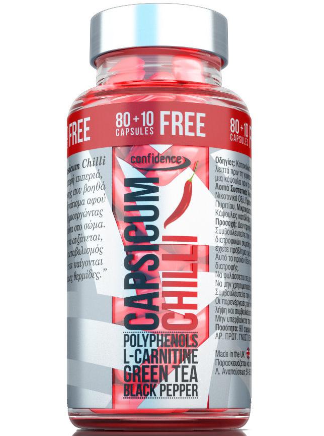 Confidence Capsicum Chilli Καύση Του Σωματικού Λίπους 90caps καλοκαίρι   διατροφή και αδυνάτισμα   λιποτροπικά συμπληρώματα διατροφής