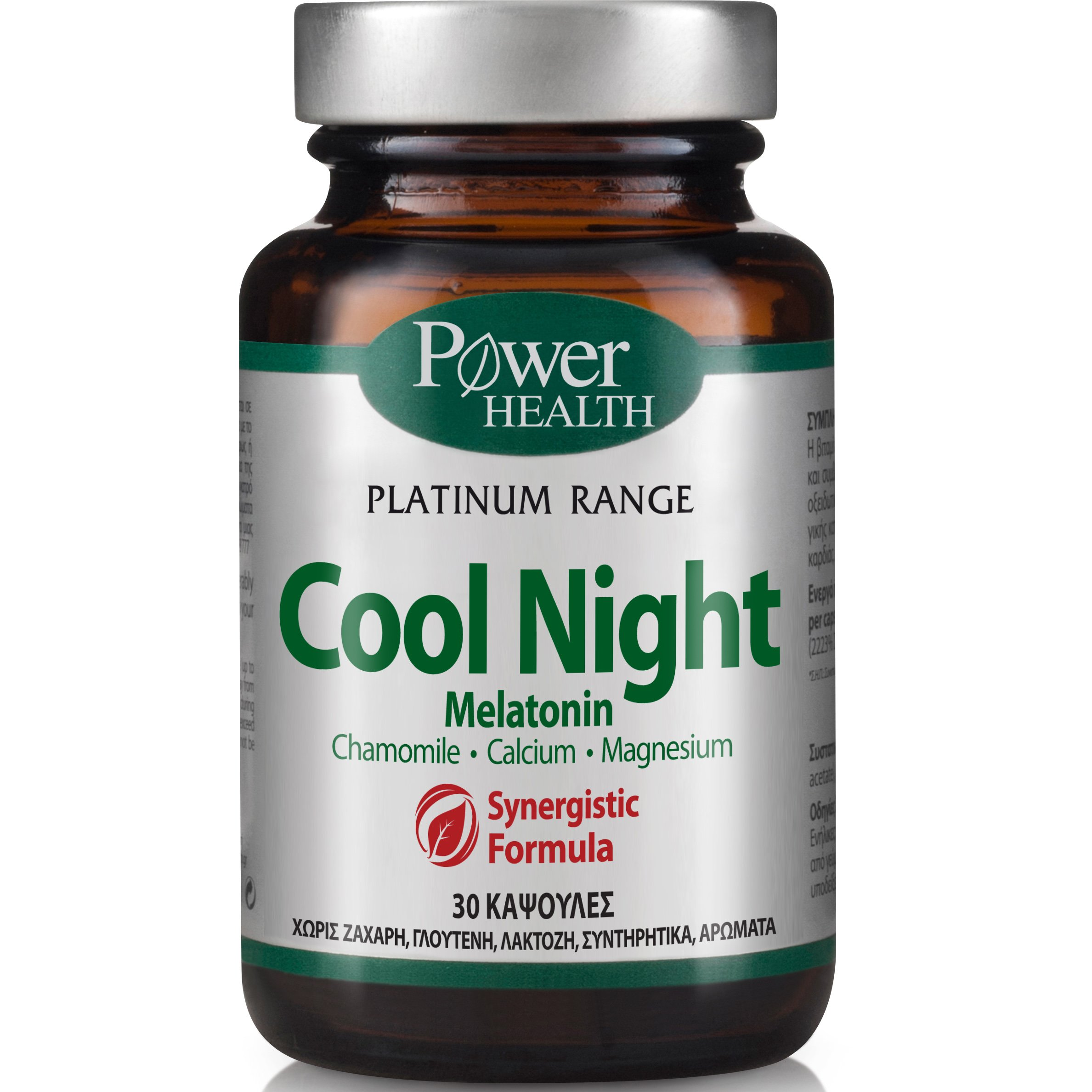 Power Health Platinum Cool Night Συμπλήρωμα Διατροφής, Φυσική Φόρμουλα Κατά της Αϋπνίας 30 caps