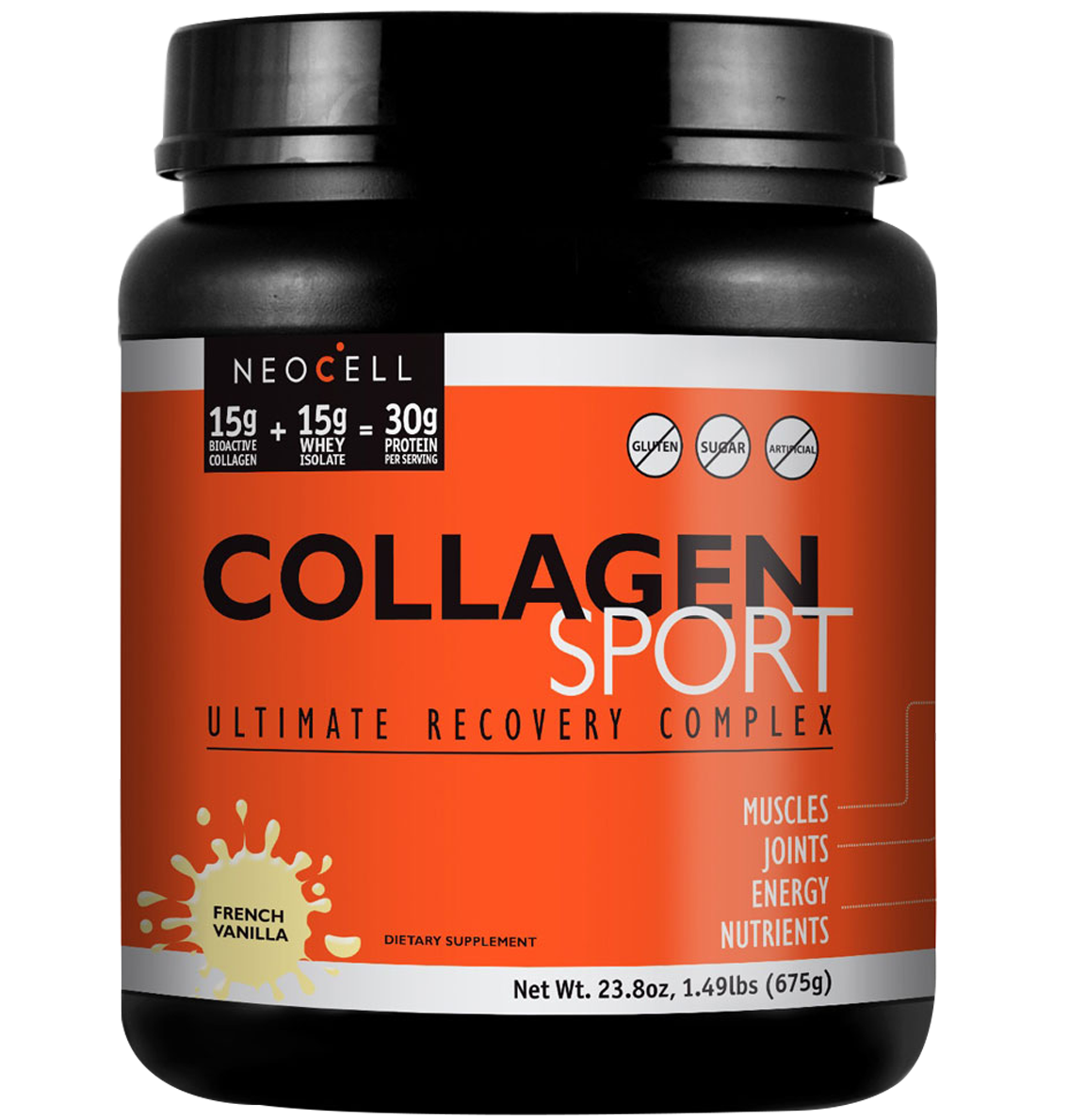 Neocell Sport Collagen Πρωτείνη Κολλαγόνου Και Ορού Γάλακτος Σε Σκόνη 675gr. – Vanilla
