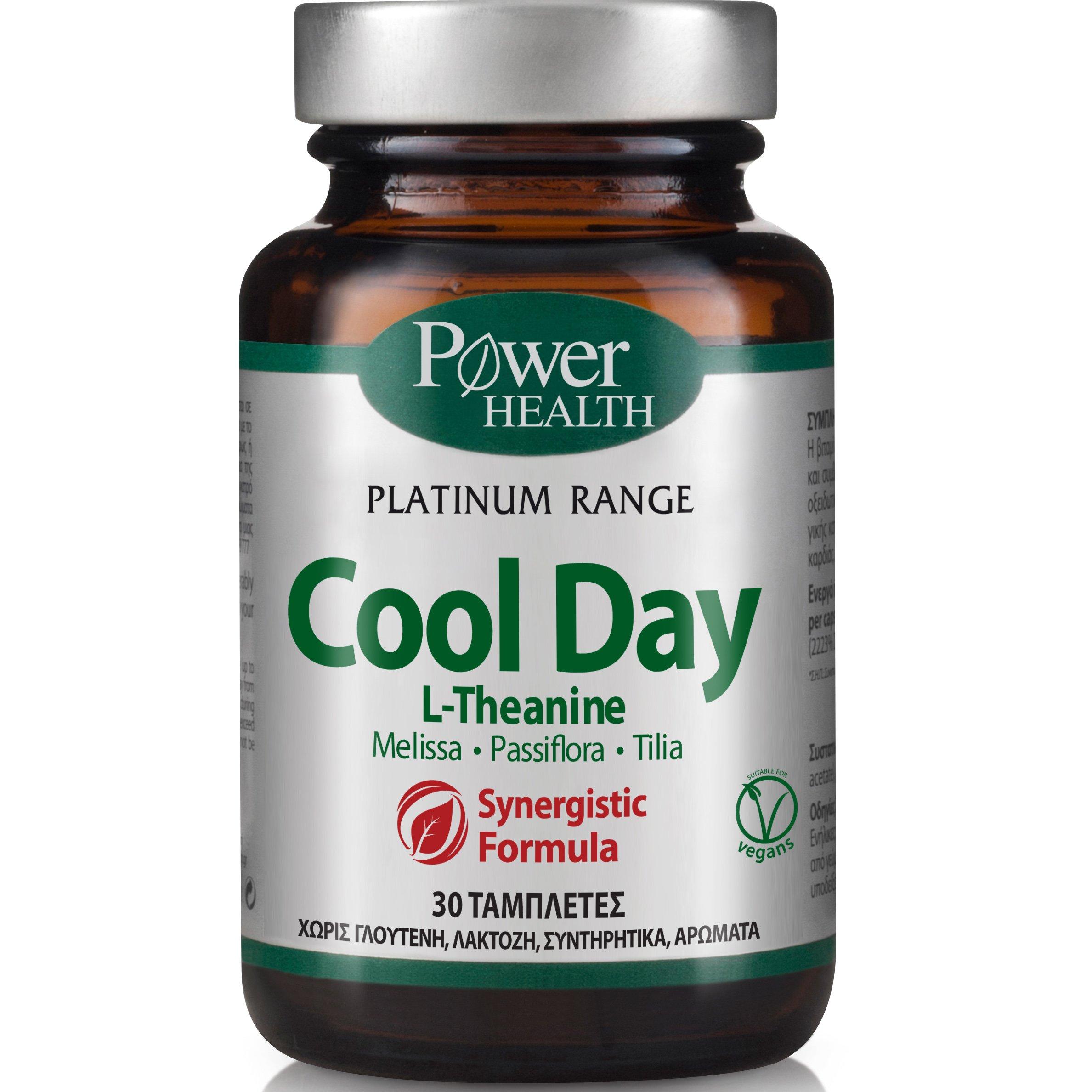 Power Health Platinum Cool Day Συμπλήρωμα Διατροφής, Αντιμετώπιση Άγχους και Συμπτωμάτων, Χωρίς Παρενέργειες ή Εθισμό 30tabs
