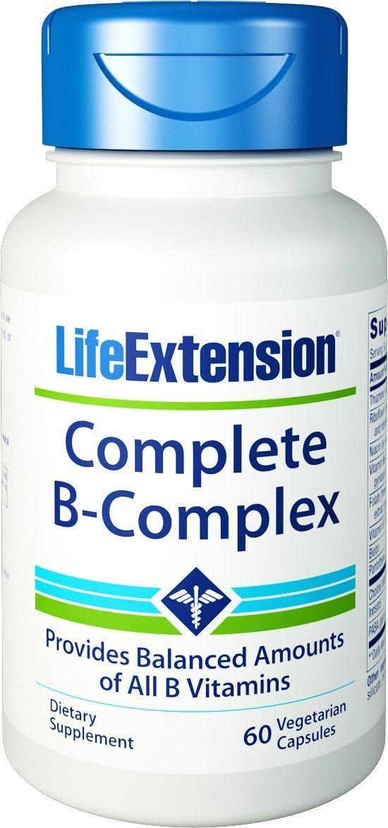 Life Extension Complete B-Complex Συμπλήρωμα Διατροφής Βιταμινών του Συμπλέγματος Β 60veg.caps