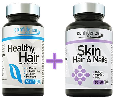 Confidence Πακέτο Προσφοράς Healthy Hair, Υγεία Μαλλιών & Νυχιών 60tabs(50+10 δώ υγιεινή   μαλλιά   θεραπεία μαλλιών τριχόπτωση
