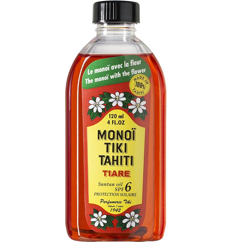 Monoi Tiki Tahiti Tiare Spf6 Suntan Oil Αντηλιακό Λάδι Σώματος με Άρωμα Γαρδένιας 120ml