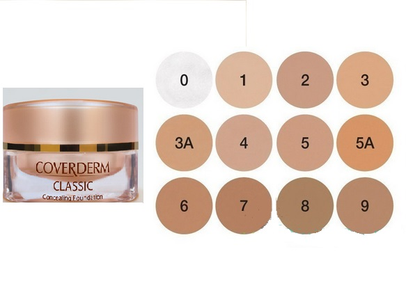 Coverderm Classic Concealing Foundation Make-Up Καλύπτει Τέλεια Και Φυσικά Έντονες Δυσχρωμίες Spf30 15ml – 5Α