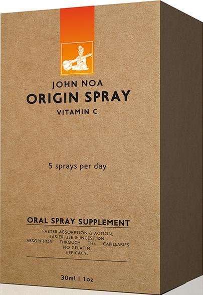 John Noa Origin Spray Βιταμίνη C Συμπλήρωμα Διατροφής για το Ανοσοποιητικό Σύστημα, σε Μορφή Spray 30ml