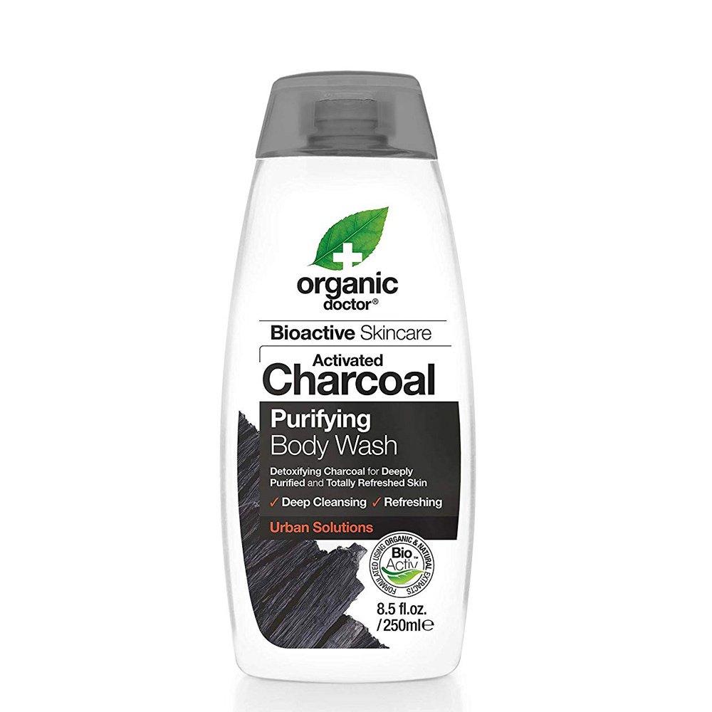 Dr.Organic Charcoal Body Wash Καθαριστικό Σώματος με Ενεργό Άνθρακα 250ml