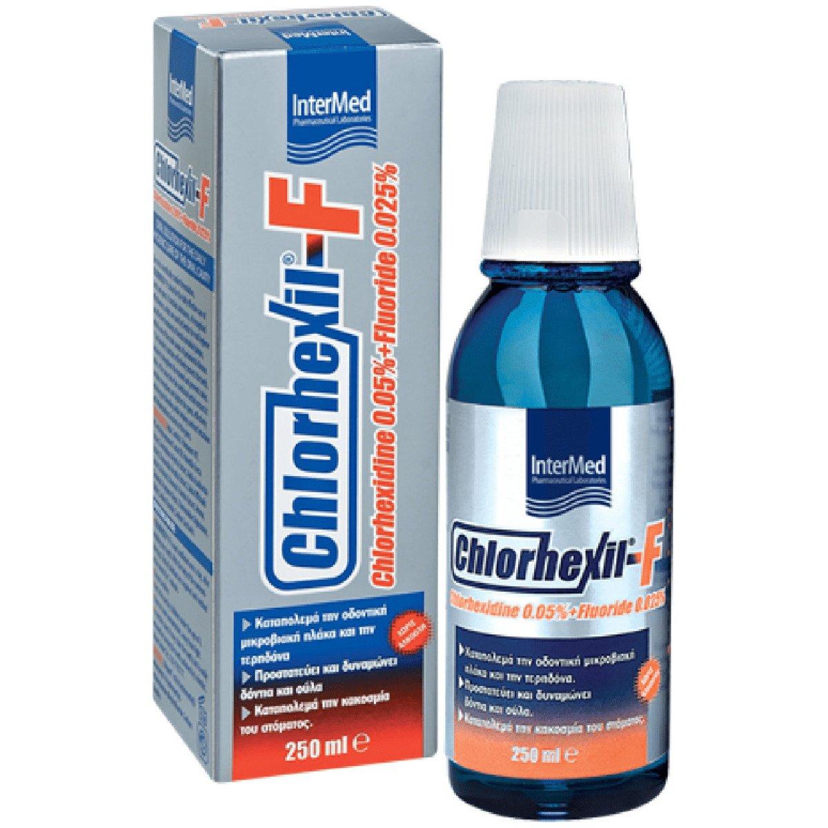 Chlorhexil-F Mouthwash Φθοριούχο Στοματικό Διάλυμα με Αντισηπτική Δράση για Καθημερινή Χρήση 250ml