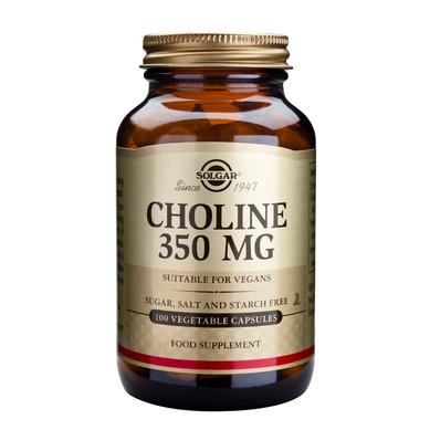 Solgar Choline 350mg 100veg.caps αδυνάτισμα   αδυνατίζω   λιποτροπικά συμπληρώματα διατροφής