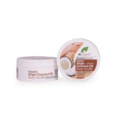 Dr Organic Organic Virgin Coconut Oil Body Souffle Μους Σώματος με Βιολογικό Έλαιο Καρύδας 200ml