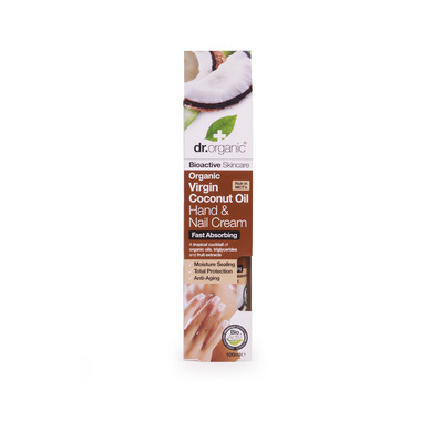 Dr Organic Organic Virgin Coconut Oil Hand & Nail Cream Κρέμα Χεριών και Νυχιών με Βιολογικό Έλαιο Καρύδας 100ml