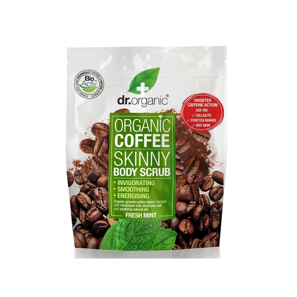 Dr. Organic Coffee Skinny Body Scrub with Fresh Mint Απολεπιστικό Σώματος 200gr